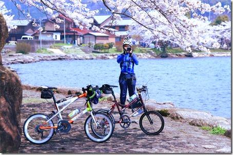 琵琶湖1周桜10箇所ツーリング