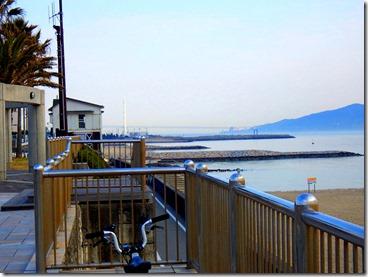 明石海峡とミニベロ