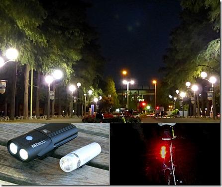 自転車夜間走行注意と対策