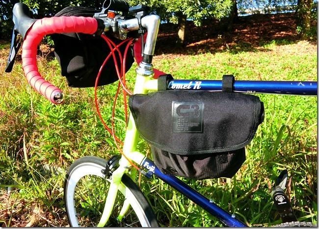 輪行袋を自転車のフレームに装着